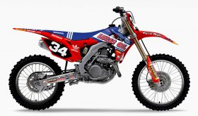 CRF 250 2014 N-STYLE TLD Lucas Oil Graphics Kit