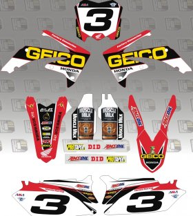 2014 Geico Honda Graphics Kit & Backgrounds